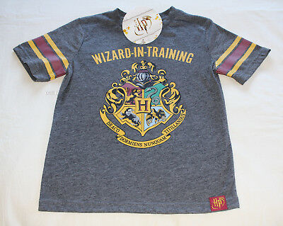 Harry Potter Boys Wizard In Training Printed Short Sleeve T Shirt Size 6 New