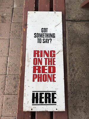 Red Payphone Signage