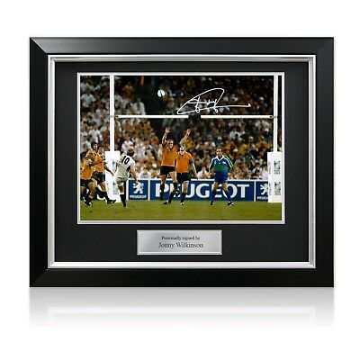 Jonny Wilkinson Signed 2003 Rugby World Cup Photo: The Drop-Kick Framed