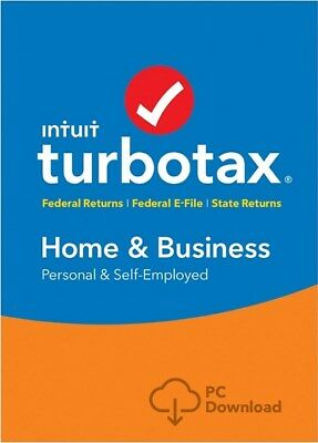 TurboTax Home & Business + State 2018 Download (DELUXE & PREMIER INCLUSIVE)