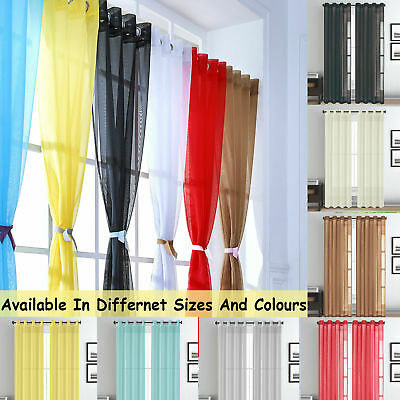 EYELET or TAB TOP 2 SLOT TOP, Voile Net Panels, Curtain - UK STOCK FAST POST