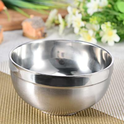 Stainless Steel Bowls Metal Insulated Soup Rice Bowl Students Dinnerware Dishes