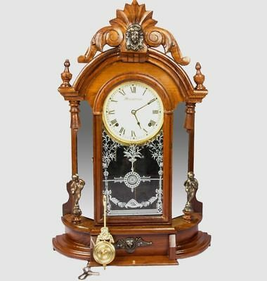 1850 Antique Ansonia Spring Driven Old Style Pendulum Décor Wall Clock HB 044