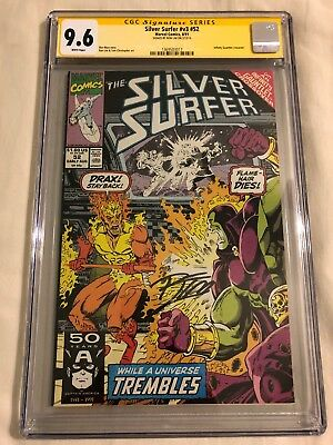 Silver Surfer #52 CGC SS 9.6 Infinity Gauntlet Drax vs Firelord, Ron Lim, Thanos