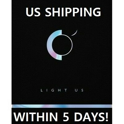 US SHIPPING ONEUS-[Light Us]1st Mini Album CD+Poster+Booklet+Card+Sticker+etc