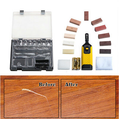 19pc Laminate Floor/Worktop Repair Kit Wax System Sturdy Chips Scratches UKDC