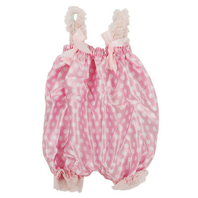 Newborn Infant Baby Girl Pink Dot foundation Ruffle Rompers Dress One-Piece F2O2