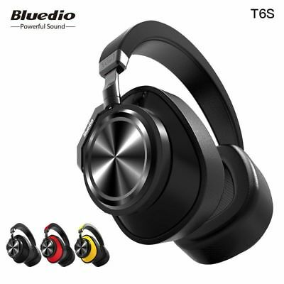 Bluedio T6S Active Noise Canceling Wireless BluetoothHeadphone with Microphone