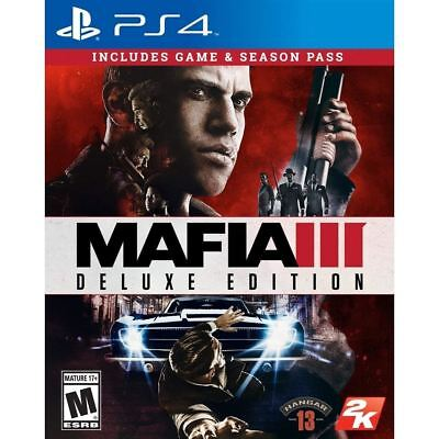 Sony PlayStation 4 Mafia 3 III Deluxe Edition PS4 Brand New Sealed Official