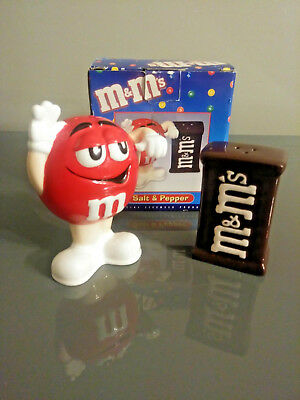 Benjamin & Medwin RED M&M Salt And Pepper Shakers MIB