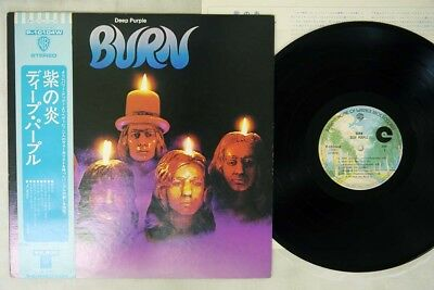 DEEP PURPLE BURN WARNER P-10104W Japan OBI VINYL LP