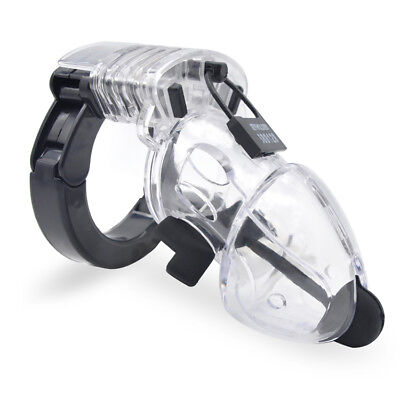 Factory Price Male No 2 Electric Chastity Cage New Ring Design A324-Clear