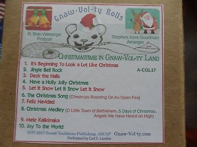 """GNAW-VOL-TY  Nickelodeon roll """"A"""" -cgl-17 10 Tune CHRISTMAS ROLL"""