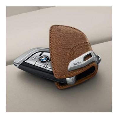 BMW Key Holder Fob Leather Case Saddle Brown (RRP £36.30) 82292408818