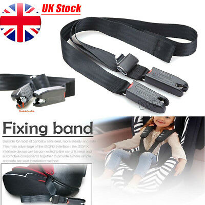 Car Child Safety Seat Isofix/ Latch Belt Adjustable Connecting Fixing Band Strap
