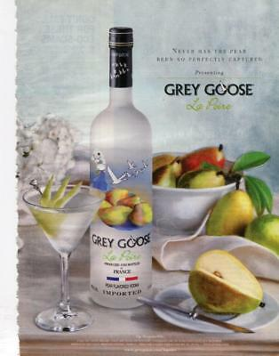 2007 Grey Goose Vodka Print Ad Grey Goose La Poire Grey Goose Bar Art Decor