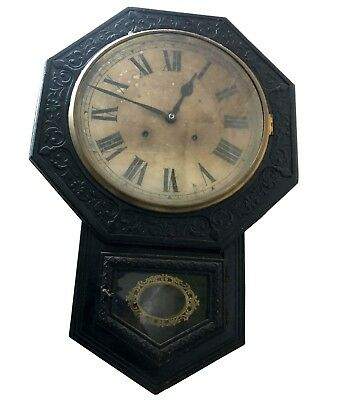 Vintage Nautical Hot Antique Old Wall Clock with Pendulum Roman Numerals WC 045