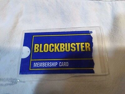 BLOCKBUSTER Membership Card  -  Collectible Only