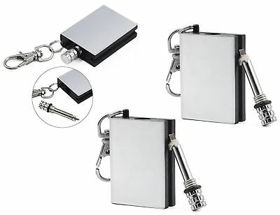 Square Permanent Match Box Lighter Unusual Mens Womens Gadget Toy Birthday Gift