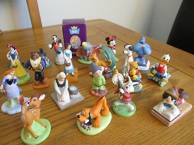Many different Disney Grolier Figures Collectable Ornaments Some Rare Retired