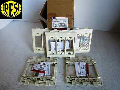 New Lot Of 5 Wiremold 5507 Ivory Nm In-Line Device Bracket