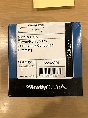 NPP16 D PA Acuity Controls nLight Power/Relay Pack, Occupancy Controlled Dimming