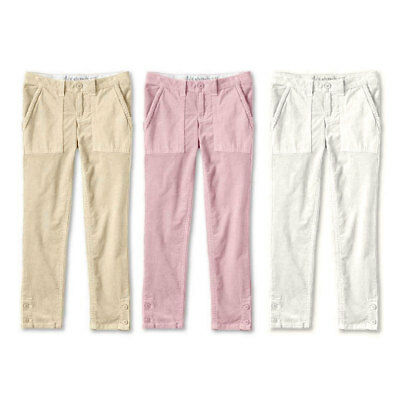 LANDS END Girls Corduroy Trousers Pencil Cord Adjustable Waist 5-6 6-7 9-10 Year