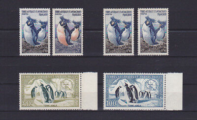 FRANCE / TAAF - nice lot of rare stamps with Penguins - LOOK!!!