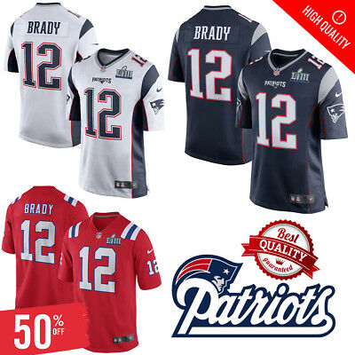 Tom Brady #12 New England Patriots Football Stitched Jersey Legend Game 2019 🔥