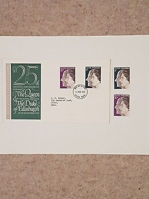 GB 1972 Royal Silver Wedding First Day cover AND with UMM  Stamps.