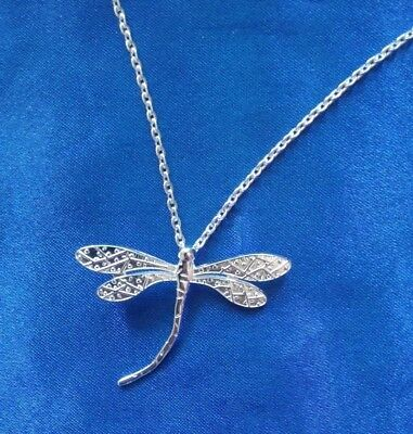 Lovely 925 sterling silver Dragonfly Necklace Pendants For Women X'mas Gift 1Pc