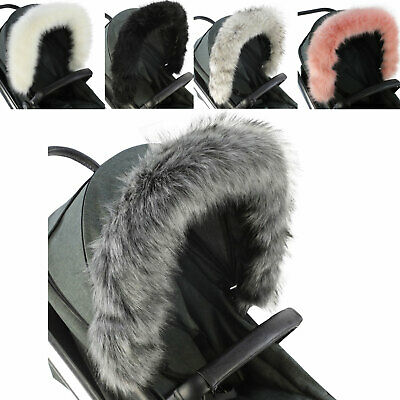 Pram Fur Hood Trim Attachment For Pushchair Compatible with Baby Jogger