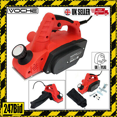 Voche® 900W Electric Power Planer Wood Plane Parallel Rebate Guides + Dust Bag