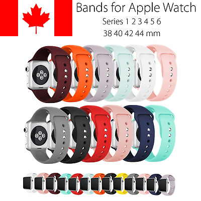 Replacement Silicone Sport Band Straps For Apple Watch 38 40 42 44 mm Series 4 5