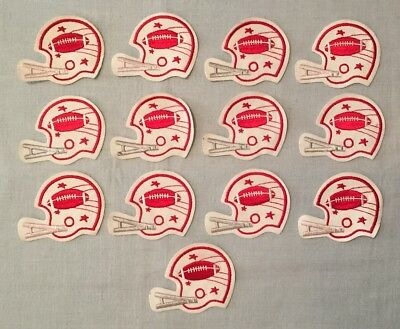 Vintage Lot of 13 FOOTBALL HELMET PATCHES Team Fan Embroidered Souvenir Patch