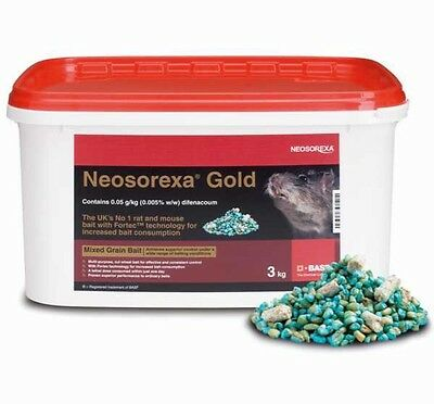 Neosorexa Gold  Profession Rat Bait Rat Poison Mouse Bait 3 Kg Free Gloves