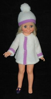 Vintage Ideal Velvet Doll Chrissy Family Blonde Cutie Winter Outfit 1 Shoe