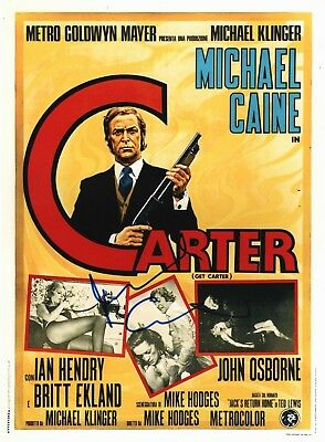 Michael Caine Signed 10X8 GET CARTER Photo AFTAL