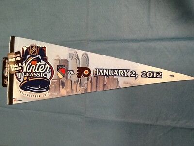 2012 Winter Classic Rangers Flyers NHL Wincraft Sports Roll it Up Felt Pennant
