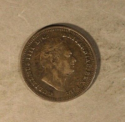 1837 Great Britain 4 Pence Circulated Nice Details     ** FREE U.S SHIPPING**