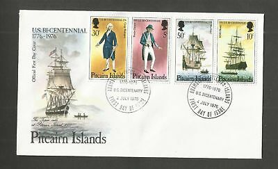 Pitcairn Islands 1976 Us Bicentenary First Day Cover Unaddressed