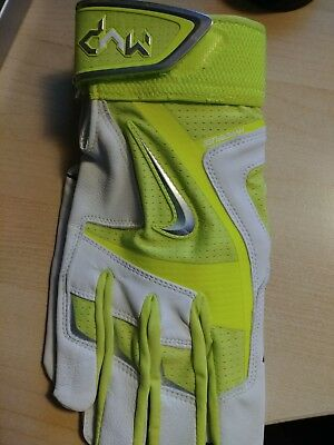 Mvp Elite Pro Large  Premium  Batting Gloves, Yellow Grey