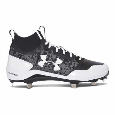 check out 30b12 c801b Under Armour Men s Heater Mid ST Metal Baseball Cleats Sz 11.5 1279232-011  Blk
