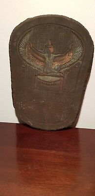 Rare Antique Ancient Egyptian Stela Goddess Isis Winged Hiroglyphic 1540-1450BC