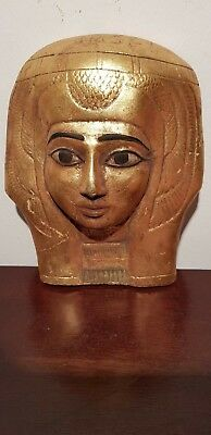 Rare Antique Ancient Egyptian Statue Queen Nefertari Mask god Horus1279–1213 BC