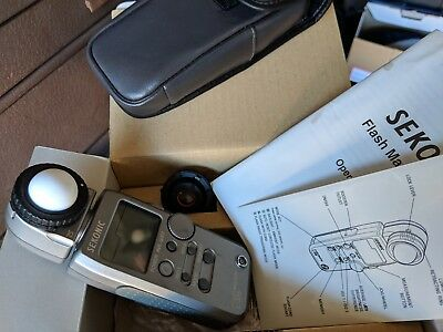 Sekonic Flash Master Digital Light Meter L- 358 in With Case Pre-owned