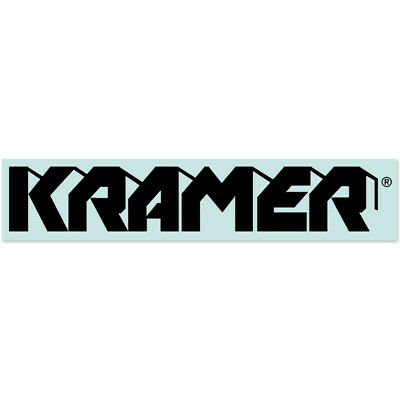 Kramer® 1980s Banana® Headstock Waterslide Decal in BLACK
