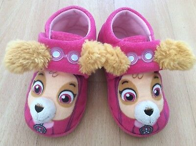 Baby Girls Skye Paw Patrol Pink Velcro Slippers Infant 6-7 TU Sainsbury's