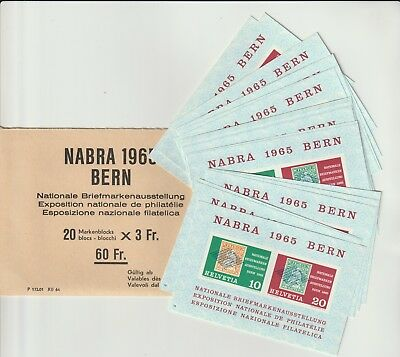Stamps Switzerland 1965 Nabra Bern Packet With Souvenir Sheets From Collection