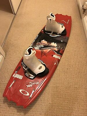O'brien Vision 140 Wakeboard with bindings, 2 life vests, helmet & bag